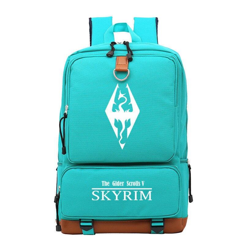 The Elder Scrolls Tes Printing Backpack Oxford Travel Backpack Unisex Laptop Backpack Canvas School Bags Game Rucksack