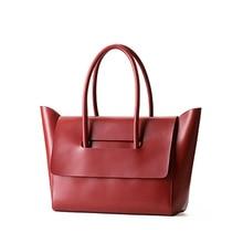 Bags 2016 handbag female bag big cowhide tote soft womens one shoulder brief work