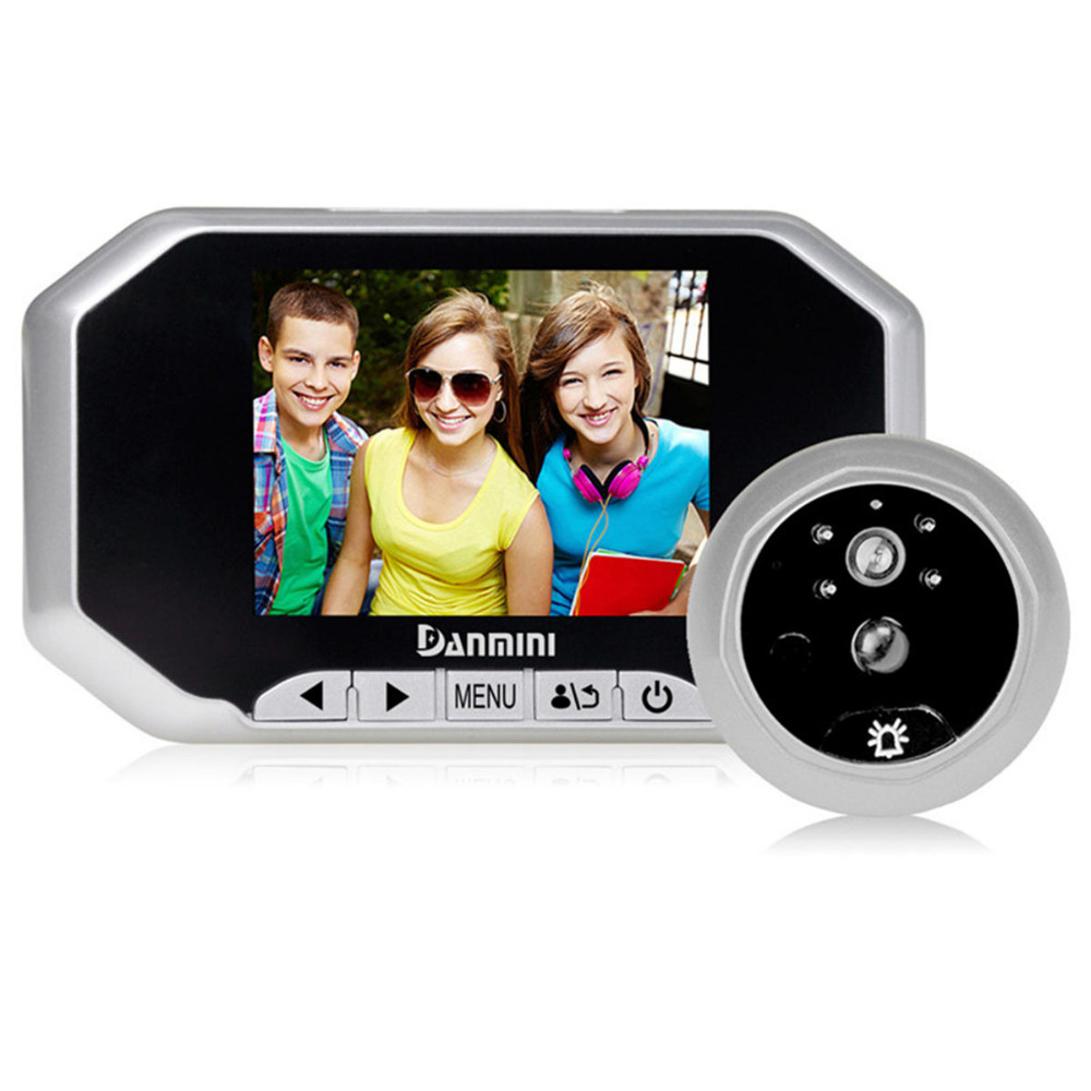 DANMINI 3.5inch Color Screen Doorbell Viewer Digital Door Peephole Viewer Camera Door Eye 160 Degrees Door Camera Night vision original danmini 3 0 tft lcd color screen door peephole viewer ir led night vision light doorbell 145 degrees view angle system