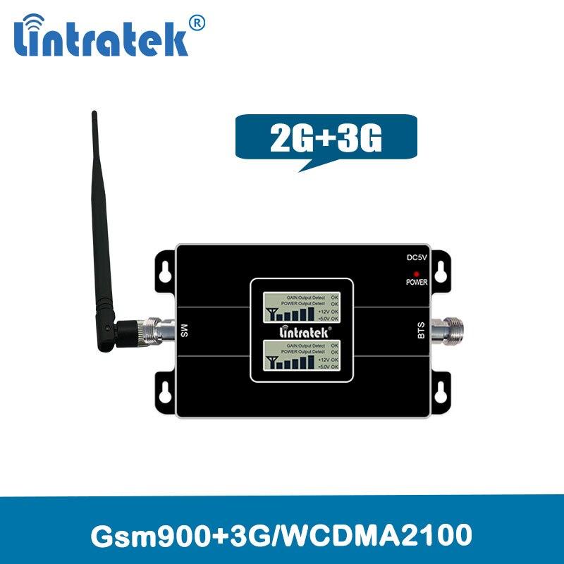 Lintratek 2g 3g gsm 900 wcdma 2100 banda dupla repetidor de sinal do telefone móvel gsm 3g umts amplificador de reforço celular @ 4.4