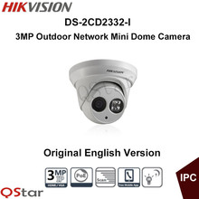 Oryginalna wersja angielska hikvision ds-2cd2332-i 3mp kamera sieciowa mini dome ip ip66 cctv kamery nadzoru cctv