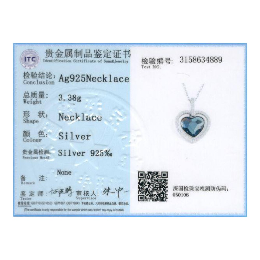 Authentic S925 Sterling Silver LEKANI Crystals From Swarovski Big Sea Love  Heart Necklaces   Pendants Women Jewelry Dropship-in Pendant Necklaces from  ... fcb4b263c4e8