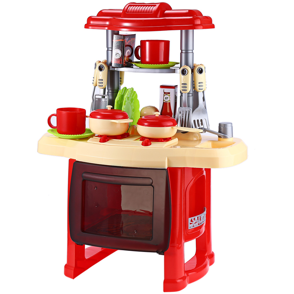 Kids Kitchen Cooking Pretend Role Play Toy Set With Music