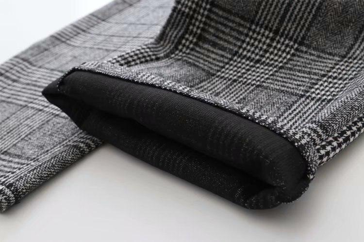 Korean Autumn Winter Pants Elastic Waist Plaid Wide Leg High Pants Pantalon Ladies Streetwear Loose Female Women Bottoms B8D405 6