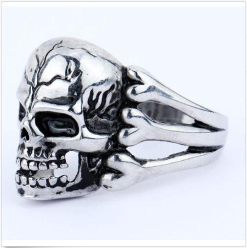 Man's Ring Gothic Skull Biker Zinc alloy