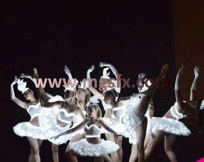 Бесплатная доставка женщин/девочек/Женские балет <font><b>LED</b></font> Танцевальный костюм/Легкие костюмы/загорается одежда