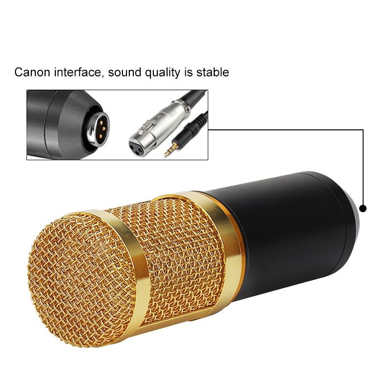 BM 800 Professional Condenser Microphone bm800 Audio Vocal recording for Computer karaoke Phantom power pop filter Sound card