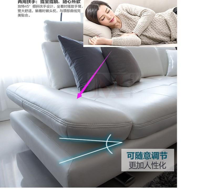sofá de cuero real sala de estar seccional sofá esquina muebles - Mueble - foto 2