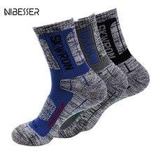 Nibesser 2017 фитнес-мягкий лоскутные носки мужские и женские плотные махровые дышащая анти-пот быстросохнущая печатные носки повседневные носки Новые