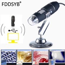 Hot sell Mega Pixels 1600X 8 LED Digital USB Microscope motherboard repair Magnifier Electronic Stereo USB Endoscope Camera jhopt 500 million pixels 1000 times usb digital microscope electronic magnifier can be accessed by computer shooting