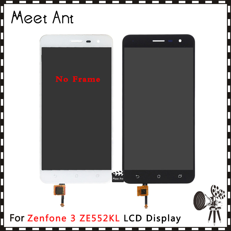 10Pcs/lot High Quality 5.5'' For <font><b>ASUS</b></font> <font><b>Zenfone</b></font> <font><b>3</b></font> <font><b>ZE552KL</b></font> <font><b>LCD</b></font> <font><b>Display</b></font> Screen With Touch Screen Digitizer Assembly Black White image