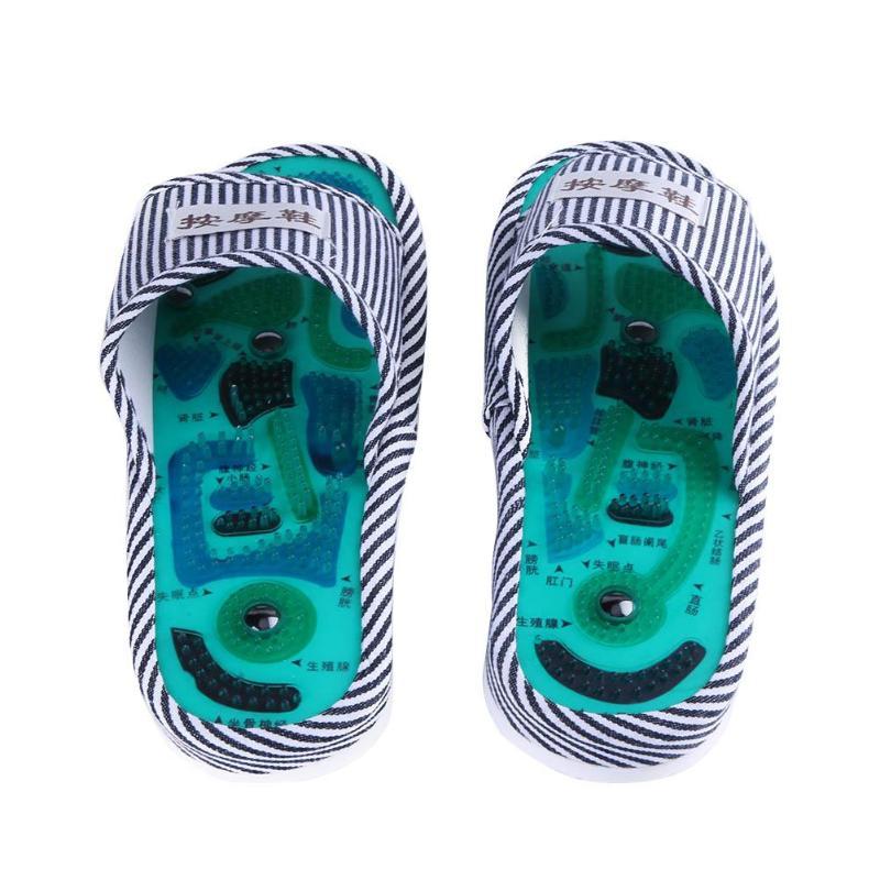 Acupuntura pé massagem chinelos saúde sapato reflexologia magnética sandálias acupuntura saudável cuidados com os pés massageador ímã sapatos