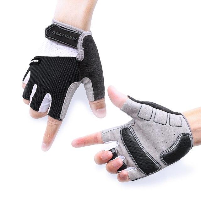 Verano hombres transpirable antideslizante guantes de bicicleta ...