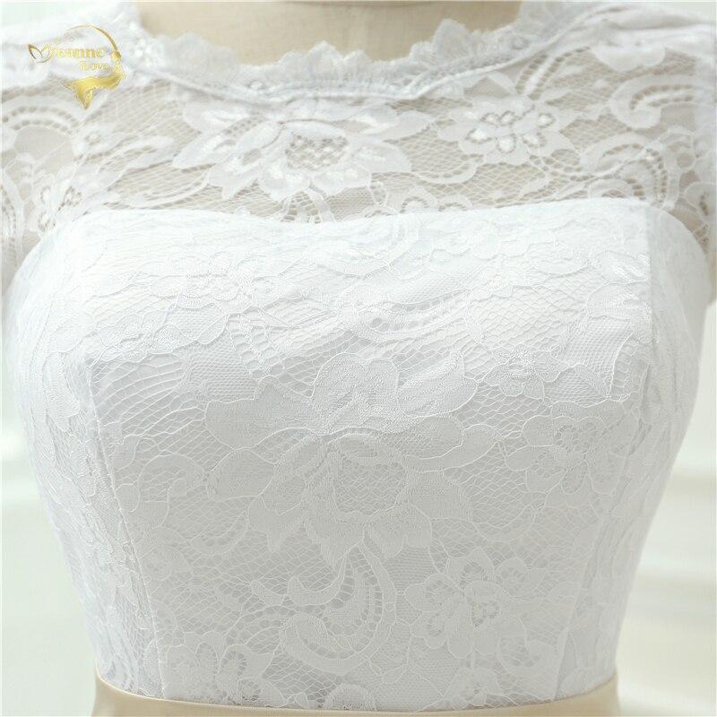 Klassisk Se genom Vestido De Noiva En Linjeklänning De Mariage Te - Bröllopsklänningar - Foto 5
