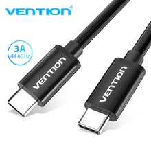 Vention New 3A Type C Male to Male USB C to USB-C cable PD Fast charging for Samsung S9 Macbook USB 3.1 Data sync Charger cord