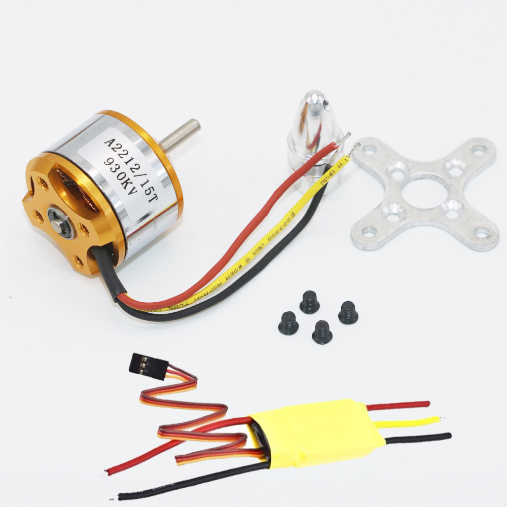 XXD A2212 KV930 / KV1000 / KV1400 / KV2200 / KV2700 מברשת Outrunner מנוע + XXD 30A ESC עבור RC מטוס QuadCopter