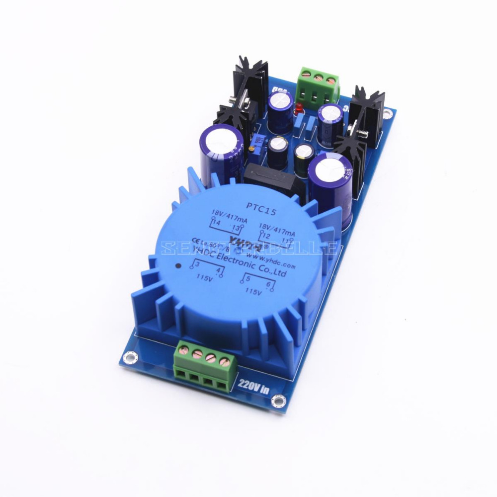 Assembled LM317 LM337 Transformer Output Adjustable Voltage Regulator Preamplifier Power Supply Board For Audio Amplifier in Amplifier from Consumer Electronics