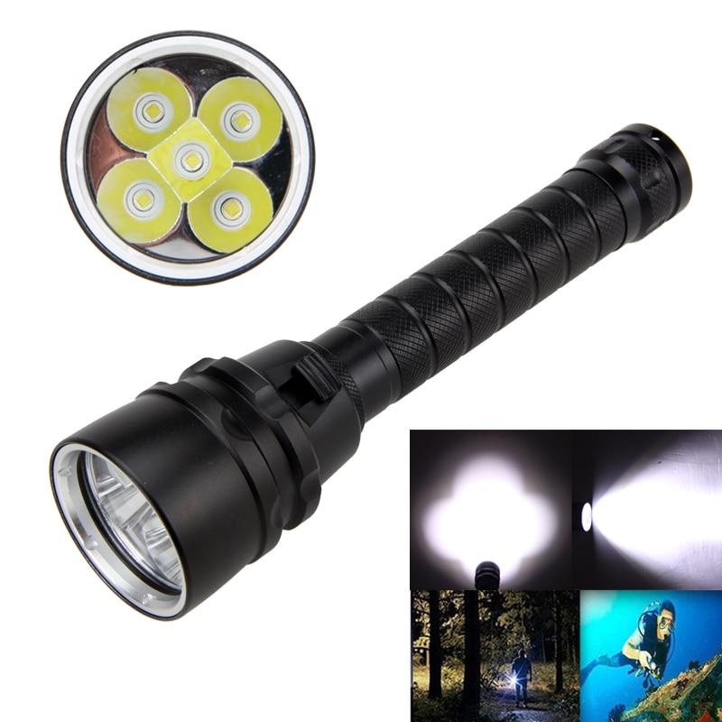 Underwater 100m Diving Flashlight Waterproof 5000Lm XM-L T6 LED Light Scuba Diving Lamp Torch 18650 Battery