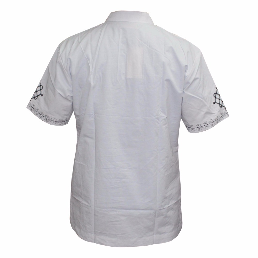 HTB1ZaYDasnI8KJjSsziq6z8QpXaV - Mr Hunkle Men's Embroidery Shirt Summer and Autumn Short Sleeve Casual Shirts Mandarin Collar Men's Clothing With Single Button