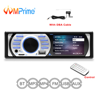 AMPrime Autoradio dab 1 din Car Audio Radio Stereo Multimedia MP3 MP5 Player Bluetooth Radio Car FM Receiver Remote Control