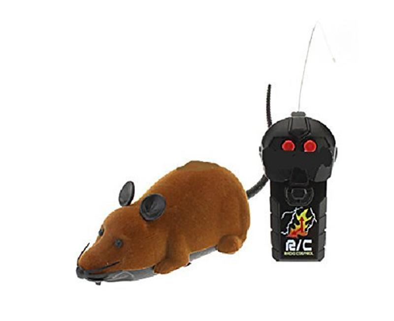 Remote Control Rat Plush Mouse Toy For Cat Dog Kid Battery Not Included Indoor Electronic Toys Play With Pet No Battery Brown