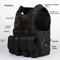 Tactical vest Quick Release Modular Military Molle CIRAS Tactical Combat magazine pouch Amphibians design military WIRE STEEL