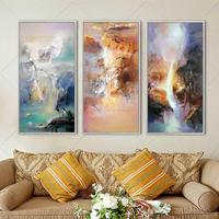 Big Size Water Gap High Skill Style Painting Handpainted Oil Painting On Canvas Wall Art Pictures For Living Room Home Decor