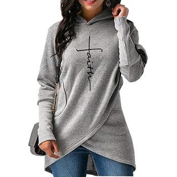 womens hoodies floral female 2019 winter casual  letter print long sleeve pullovers sweatshirts womenss hoodies XL