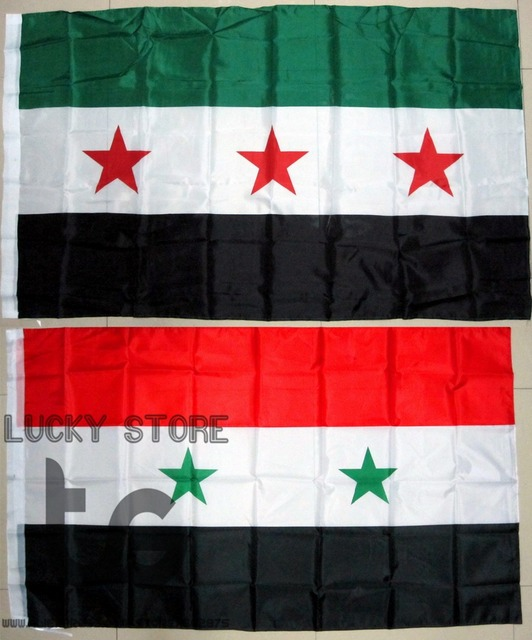 Syria Flag Banner Free Shipping Cm National Flag For - Syria flag