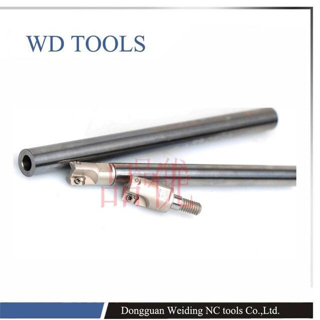 solid carbide MFT10-10-100-M5 +1pcs M5 BAP head Anti Shock Carbide Steel CNC Milling Shank MFT boring bar M5 threading bar 1