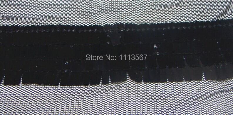 Wholesale 20yards Craft Black Tulle Lace Trim Ribbon with Black Sequin Trim  Sewing Trim T101 9e11e5613