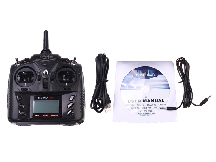 Walkera DEVO 7E 2.4G 7CH DSSS Radio Control Transmitter for RC Helicopter Airplane Model 1 and Model 2 стоимость