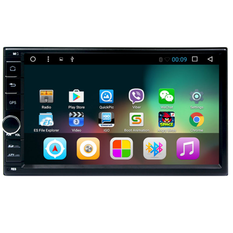 Android 5.1 1G RAM 7 1024*600 Support 4G LTE SIM Network Car Radio GPS 2 din Universal with radio car dvd player( NO DVD)