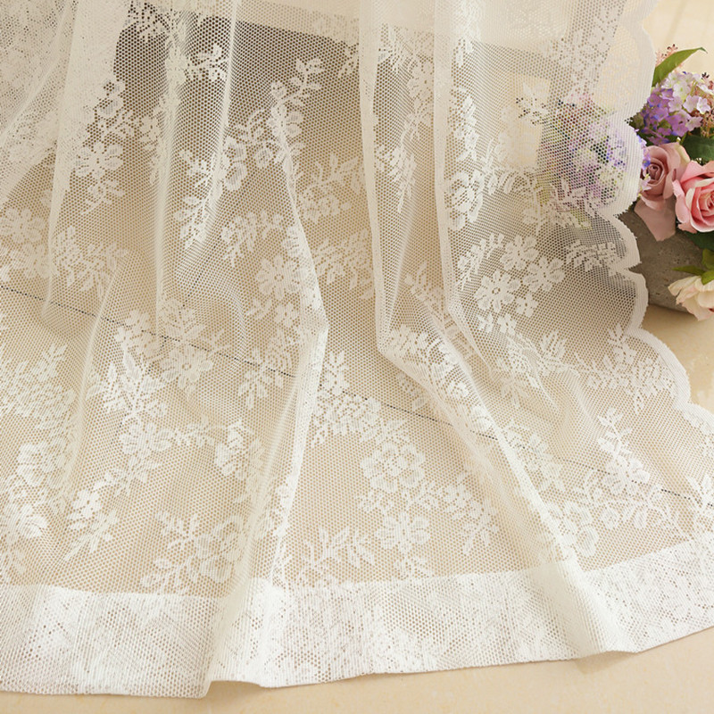 US $34.8 |lace floral 3d curtain window room curtain white rustic cortinas  living room modernas voile tulle curtains pink curtains bedroom-in Curtains  ...