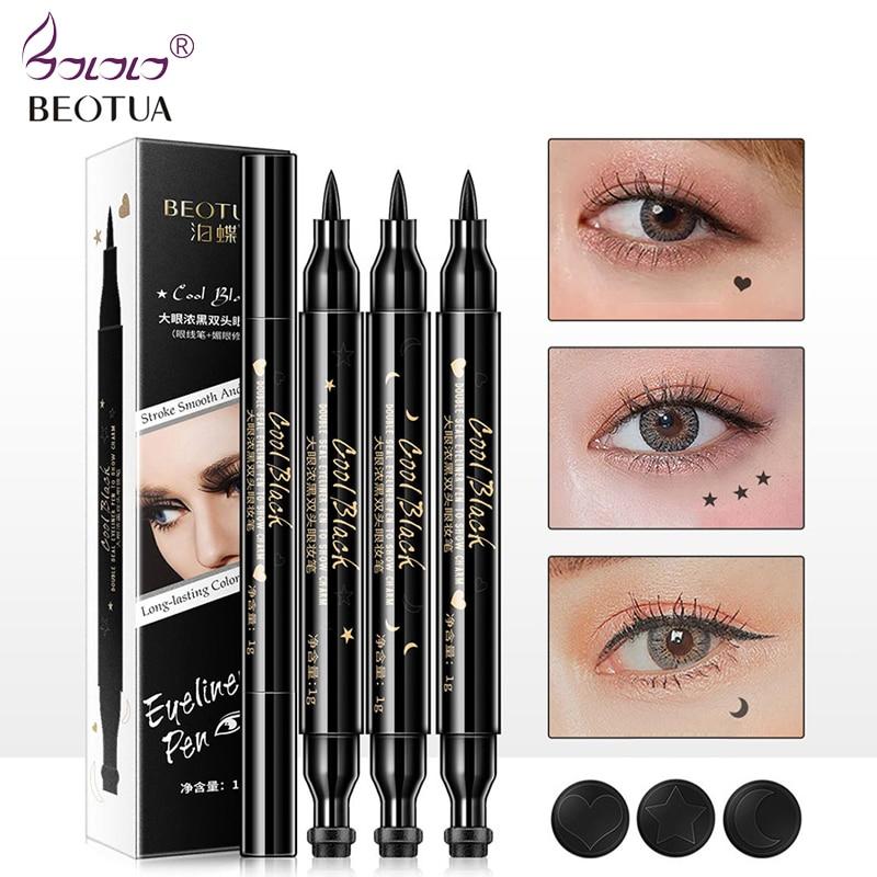 BEOTUA 1PC NEW Beauty Cat Style Black Long-lasting Waterproof Liquid Eyeliner Eye Liner Pen Pencil Makeup Cosmetic Tool