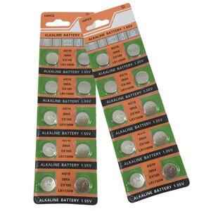 Батарея для часов Centechia, 100 шт., 10 шт., 1,55 в, AG10, LR54, LR1130, L1131, 389, 189 щелочных батарей, кнопочных ячеек, монет