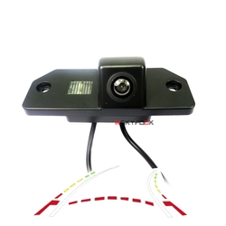 CCD HD רכב אחורי מצלמה עבור פורד פוקוס Hatchback MK2 סדאן C-מקס MK1 חניה מצלמה דינמי מסלול לרפא קו