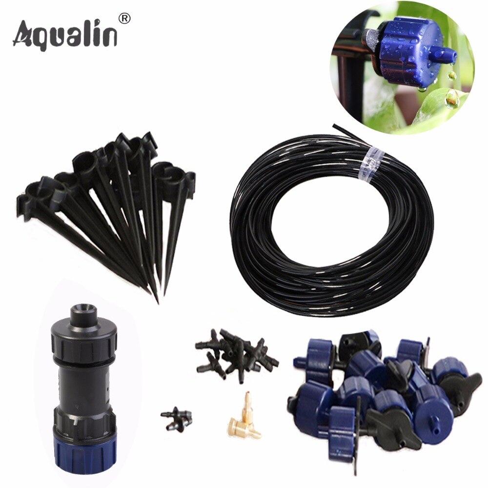 Nouvelle Arrivée 10 m 4/7 Tuyau Automatique Système D'irrigation Goutte À Goutte Jardin Goutteurs Arrosage Kits avec Réducteur de Pression #26301-6