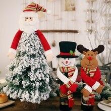 Крышка бутылки вина прекрасный объятия Рождественская елка Топпер праздник обеденный стол декоративное украшение Лось/Снеговик/Санта Клаус