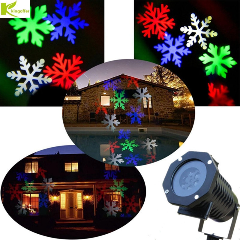 Kingoffer Laser Projector Lamps LED Stage Light With 10PCS Pattern Lens Heart Snow Christmas Party Garden Landscape Outdoor недорого