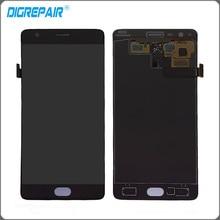 Noir Pour OnePlus 3 Un Plus 1 + 3 Un A3000 LCD Affichage à L'écran Tactile Digitizer Assemblée Complet Pièces De Rechange livraison Gratuite