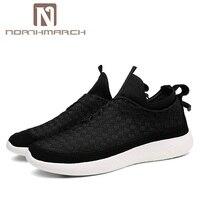Northmarch Мужская обувь 2018 модные мужские кроссовки 9908 Марка Mesh обувь Высокое качество дышащие слипоны летняя повседневная обувь для Для мужчи