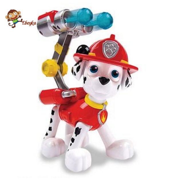20 cm Cachorro Patrulla Patrulla Canina Perro Juguetes Ruso Muñeca de Anime Figuras de Acción de Juguete Del Coche Patrulla Canina Juguetes Regalos para niño