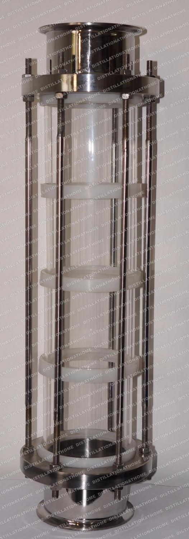 4 OD 119 mm Glass column for distillation. 8 tri clamp od 217 glass column for distillation