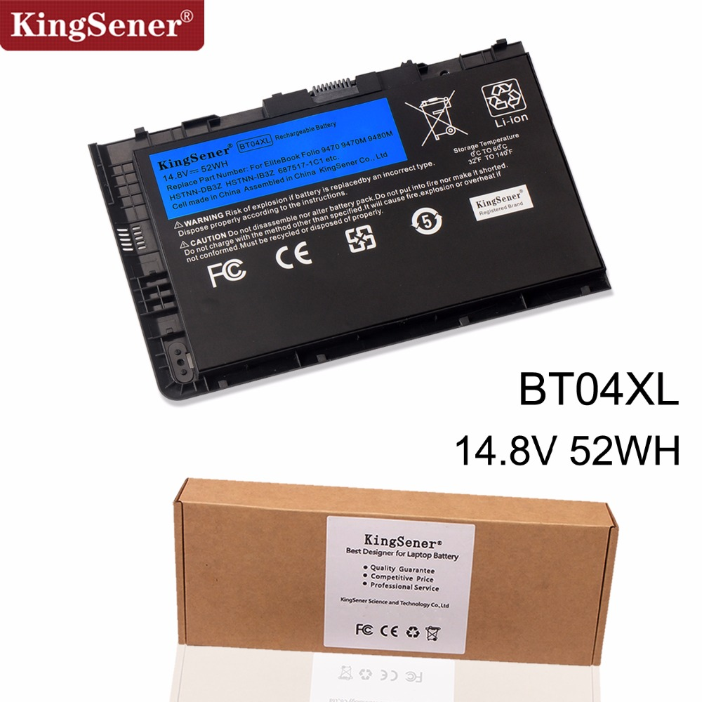 KingSener Nouveau BT04XL Batterie pour HP EliteBook Folio 9470 9470 m 9480 m HSTNN-IB3Z HSTNN-DB3Z HSTNN-I10C BA06 687517-1C1 687945- 001