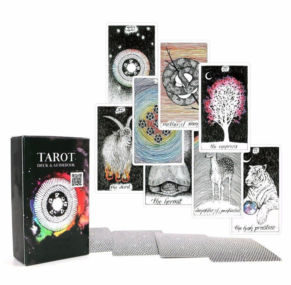 Acient Tarot Deck 78 Cards - Beautiful Master Grade Design - Ebook To Guide Tarot Cards Game For Women(China)