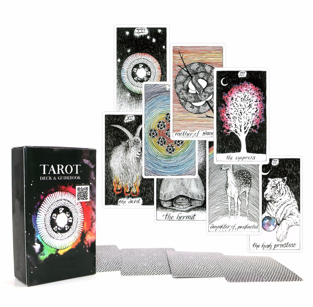 Acient Tarot Deck 78 Cards - Beautiful Master Grade Design - Ebook To Guide Tarot Cards Game For Women