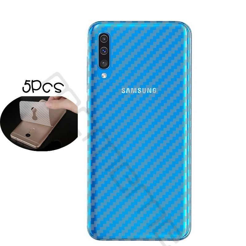 5 шт. защитный прозрачный 3D мягкое углеродное волокно наклейка с защитой экрана для samsung Galaxy A10 A30 A50 задняя пленка не закаленное Стекло