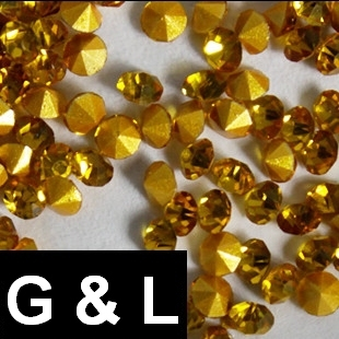 Ss11.5-ss25 Topaz Color Pointback Rhinestones Glass Material Beads Used For Jewelry Nail Art Decoration