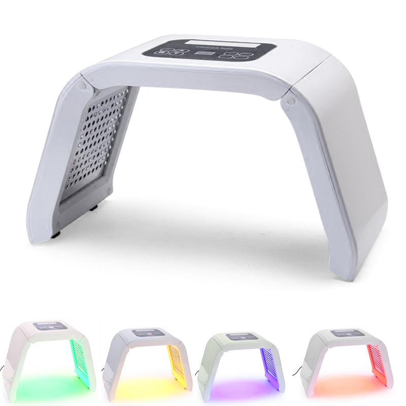 2016 New 4 Color LED Facial Mask Photon Skin Care Beauty Machine SPA PDT Therapy Skin Rejuvenation Acne Remover Anti-wrinkle rechargeable pdt heating led photon bio light therapy skin care facial rejuvenation firming face beauty massager machine